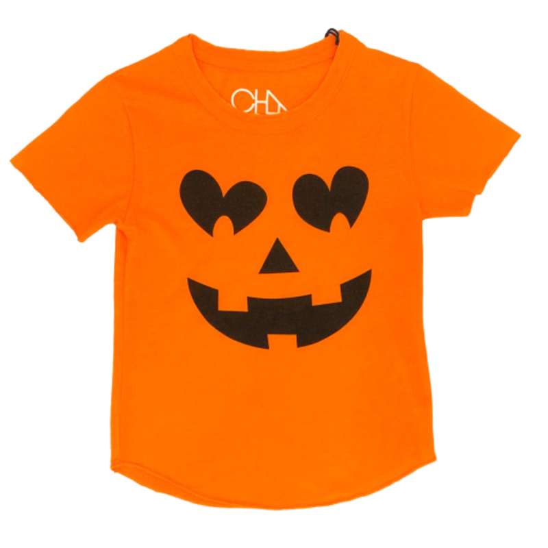 Chaser Girls Pumpkin Face SS Tee