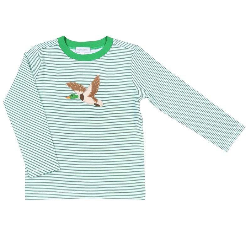 Magnolia Baby Magnolia Baby Duck Life Applique LS Toddler T-Shirt