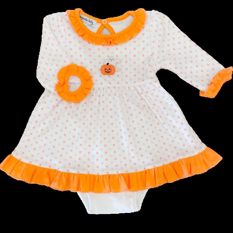 Magnolia Baby Magnolia Baby My Little Boo Emb LS Dress Set