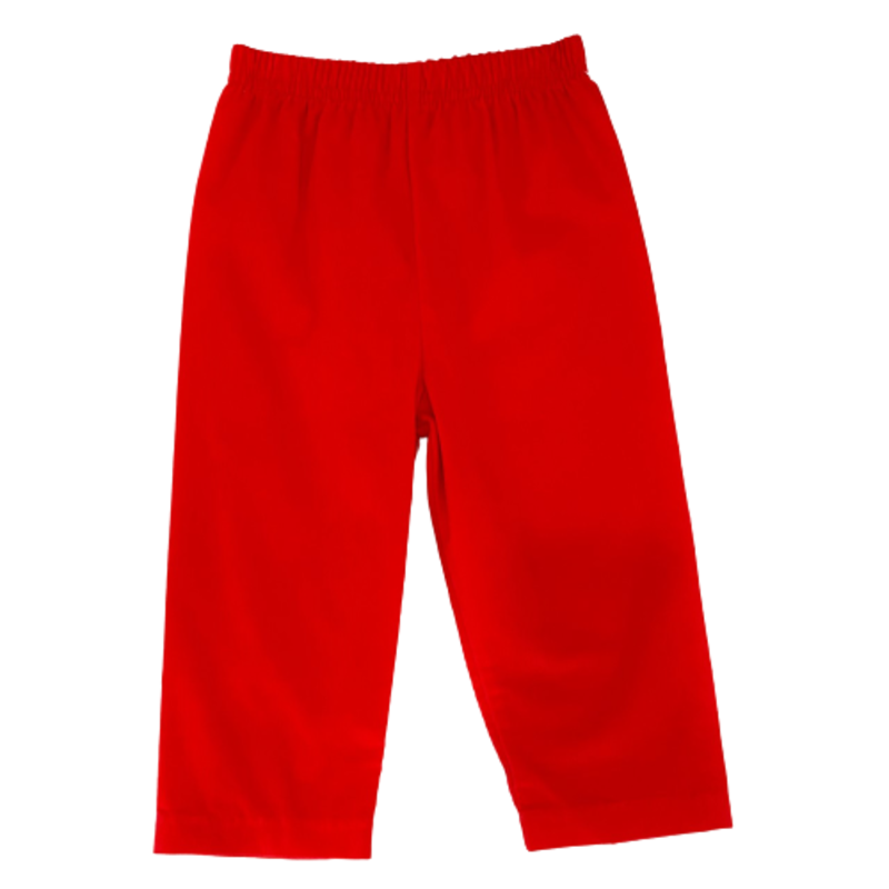 Zuccini Zuccini Red Corduroy Leo Pants
