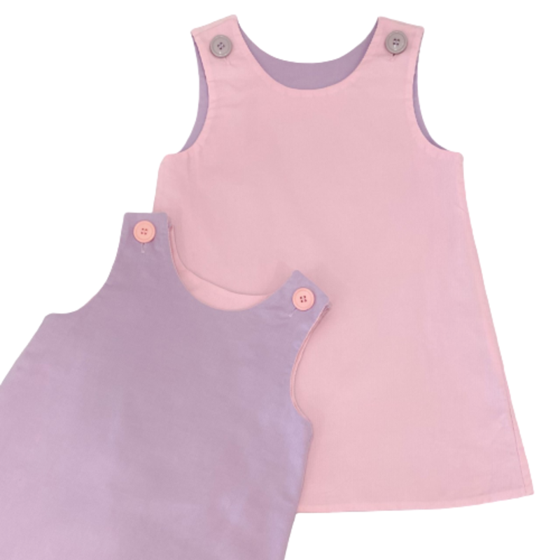 Zuccini Zuccini Pink/Lavender Corduroy Ensly Dress