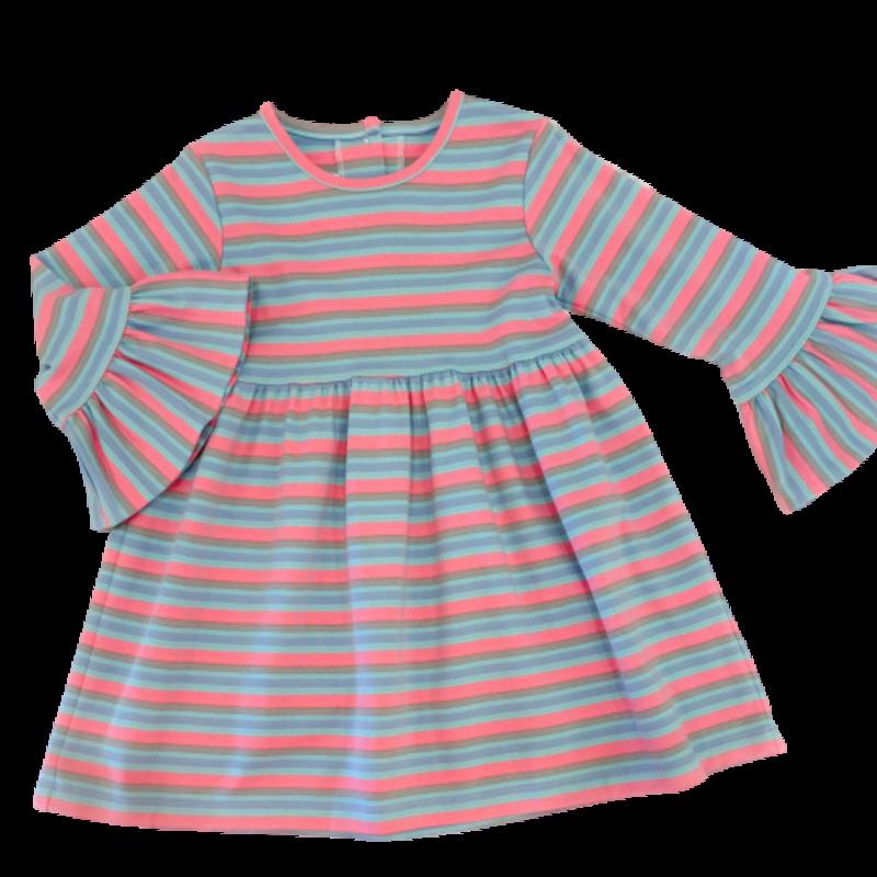 Zuccini Zuccini Multi Stripe Bell Dress
