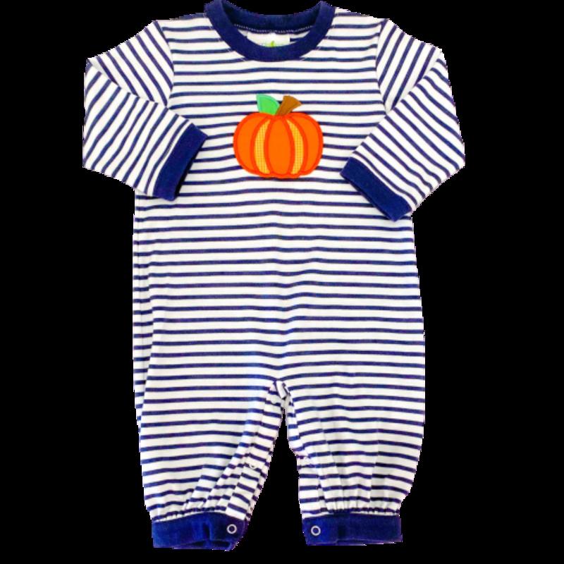 Zuccini Zuccini Navy Stripe Pumpkin Romper