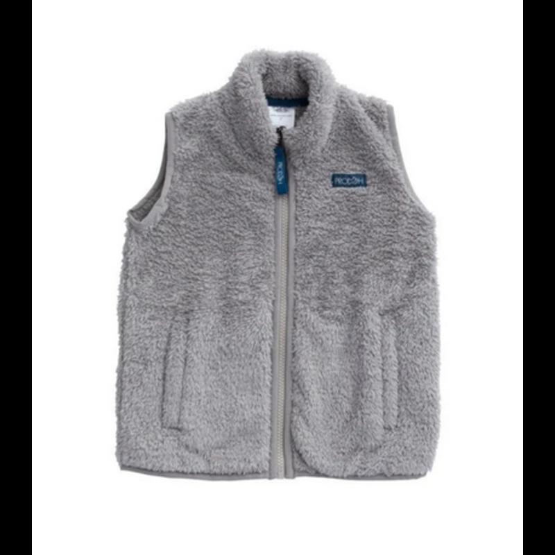 PRODOH Prodoh Solid Sherpa Vest Igneous Gray