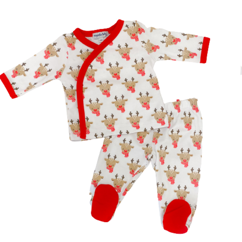 Magnolia Baby Magnolia Baby Rudolph X-Tee Footed Pant Set