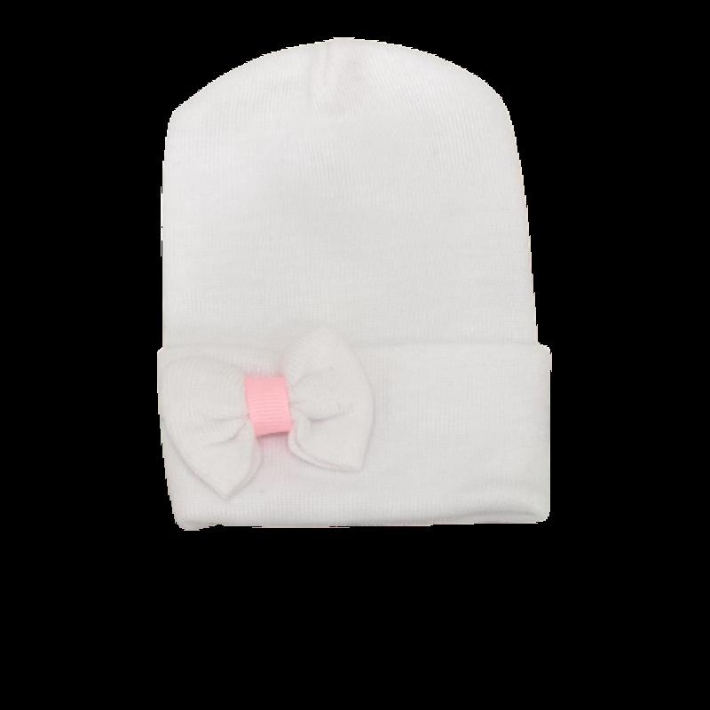Ily Bean Mini White Bow/Pink