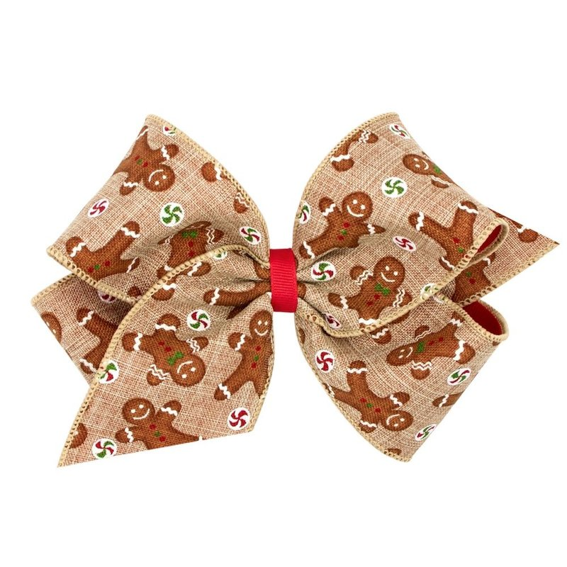 Wee Ones Gingerbread Christmas Novelty Bow King