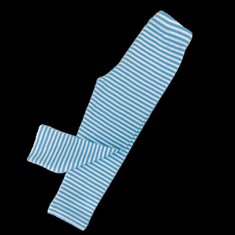 Luigi Luigi Turquoise/White Thin Stripe Legging