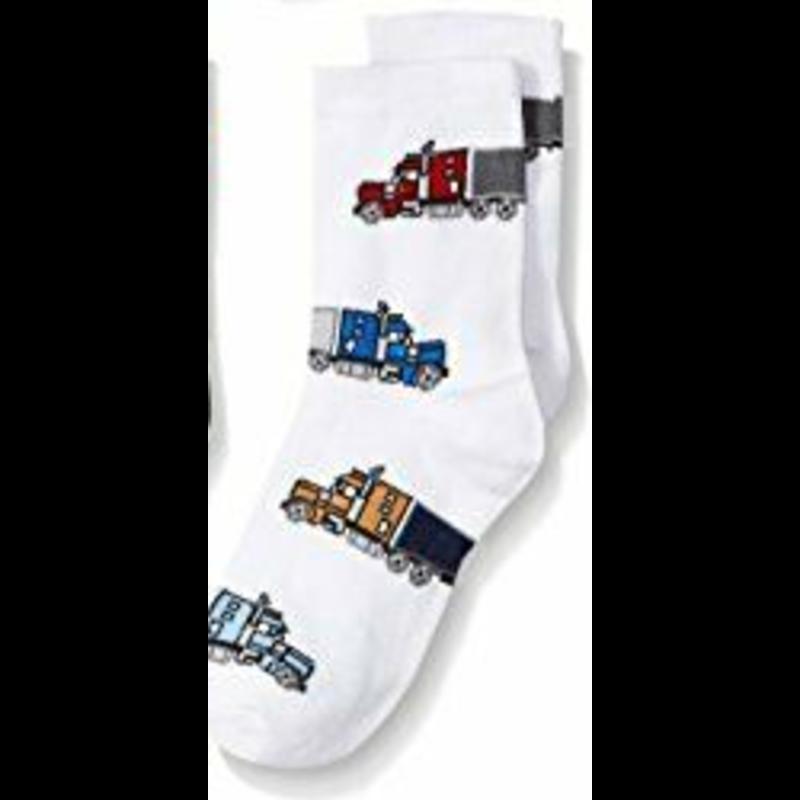 Jefferies Socks Jefferies Tractor Trailer Socks White