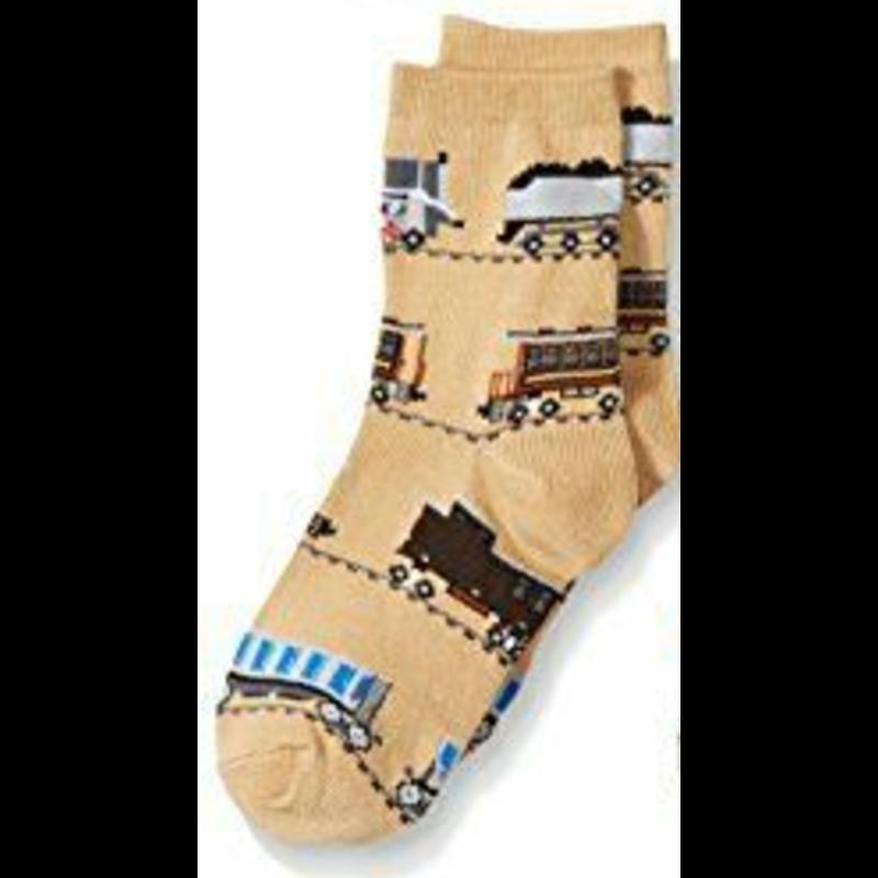 Jefferies Train Socks Tan