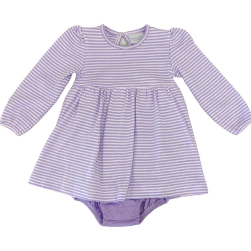 Squiggles Squiggles Lilac Onesie Dress