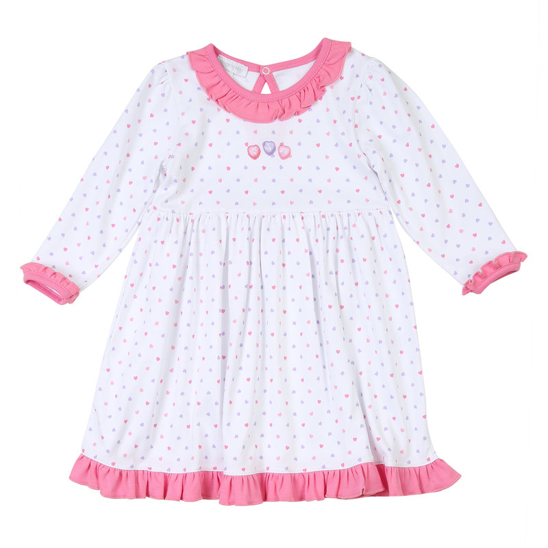 Magnolia Baby Magnolia Baby Lil' Sweetheart Emb LS Toddler Dress