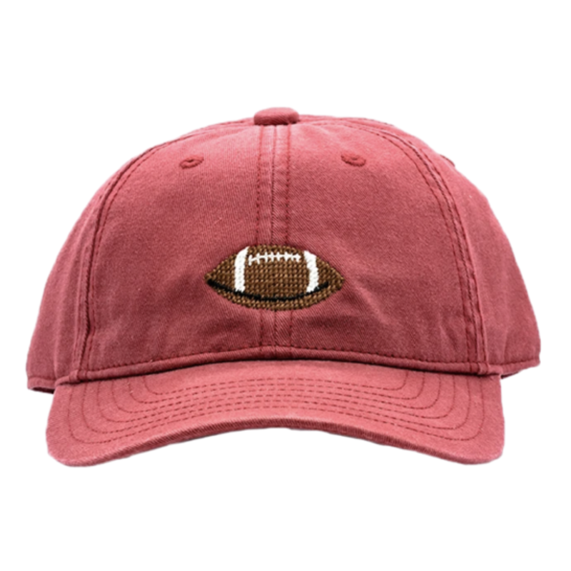 Harding Lane Harding Lane Kids Football on Weathered Red Hat