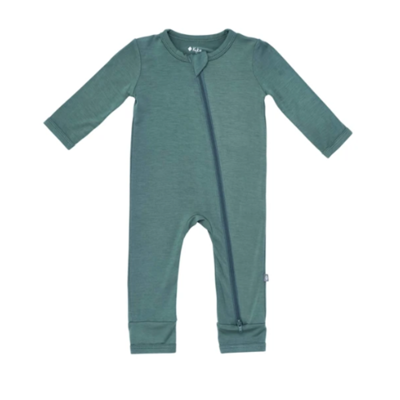 Kyte Baby Kyte Baby Zippered Romper in Pine