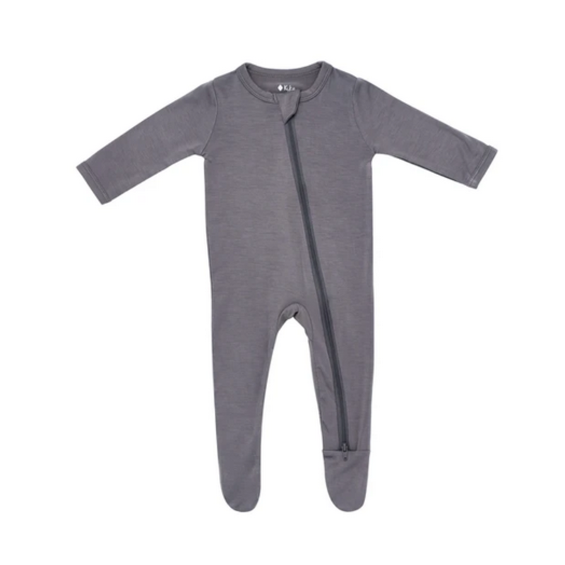 Kyte Baby Kyte Baby Zippered Footie in Charcoal