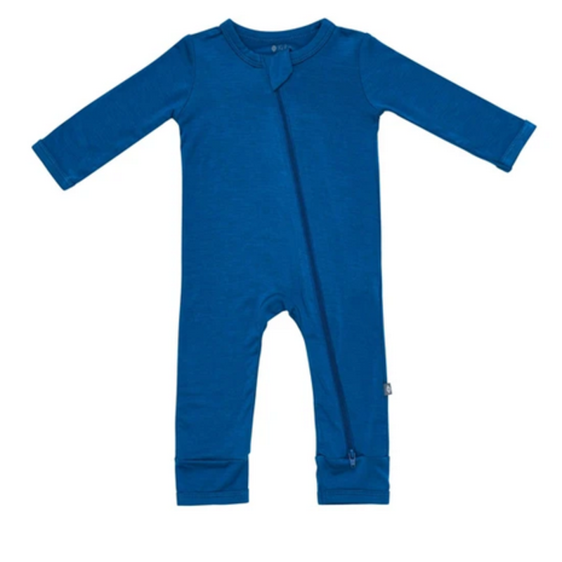 Kyte Baby Kyte Baby Zippered Romper in Sapphire