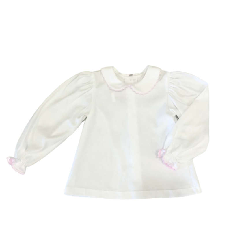 Lullaby Set Lullaby Set Countryside Better Together Blouse L/S Pima Knir W Pink Ric Rac