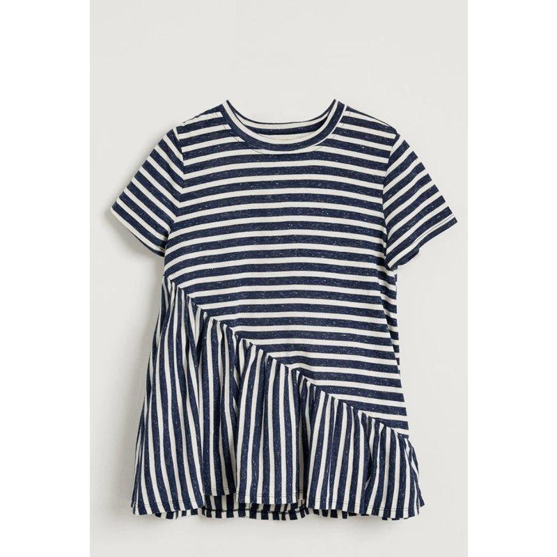 Hayden Girl Navy / White Stripe Top