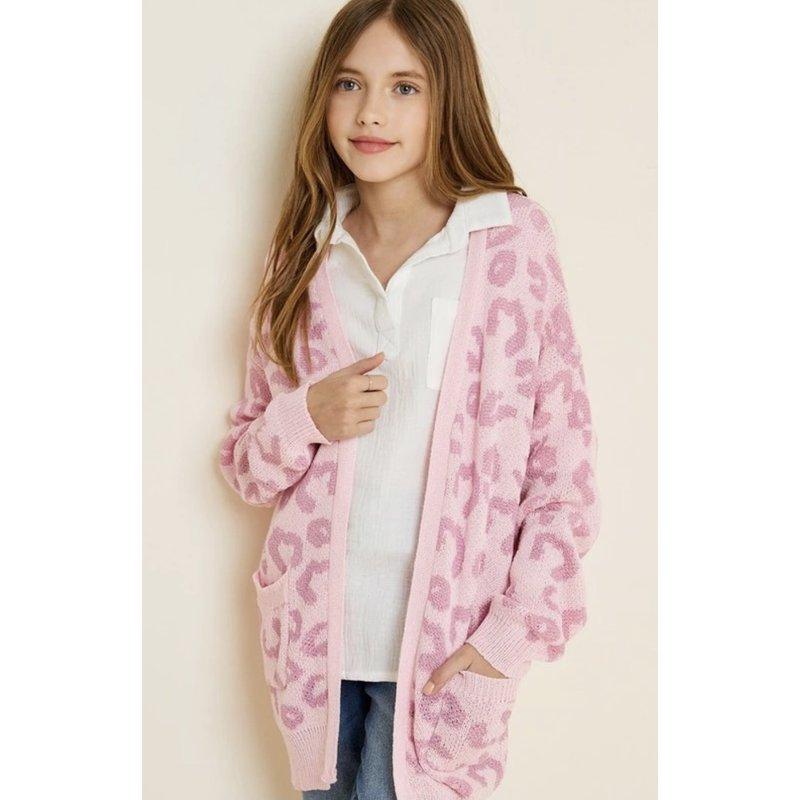 Hayden LA Hayden LA Pink Leopard Cardigan