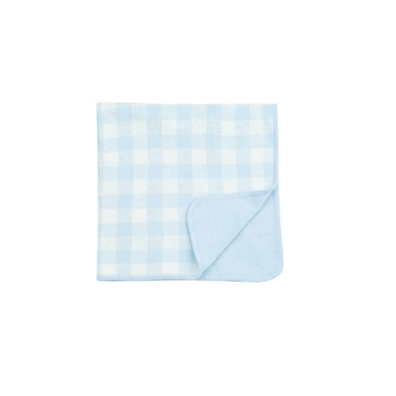 Angel Dear Angel Dear Gingham Blanket Blue