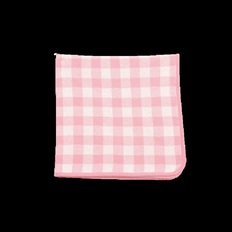 Angel Dear Angel Dear Gingham Blanket Pink