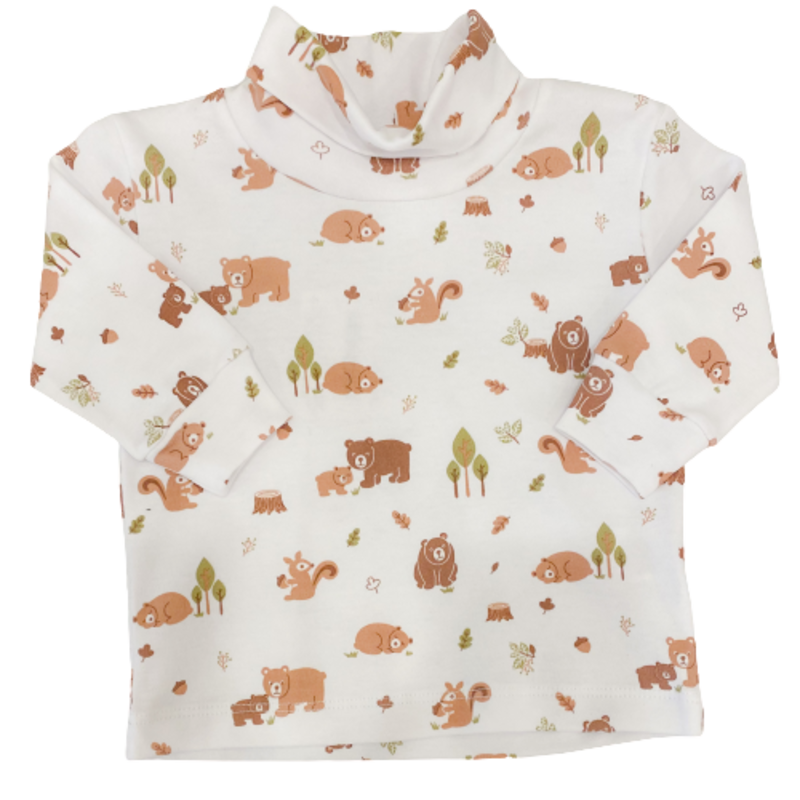 Luigi Luigi Turtleneck Forest Print