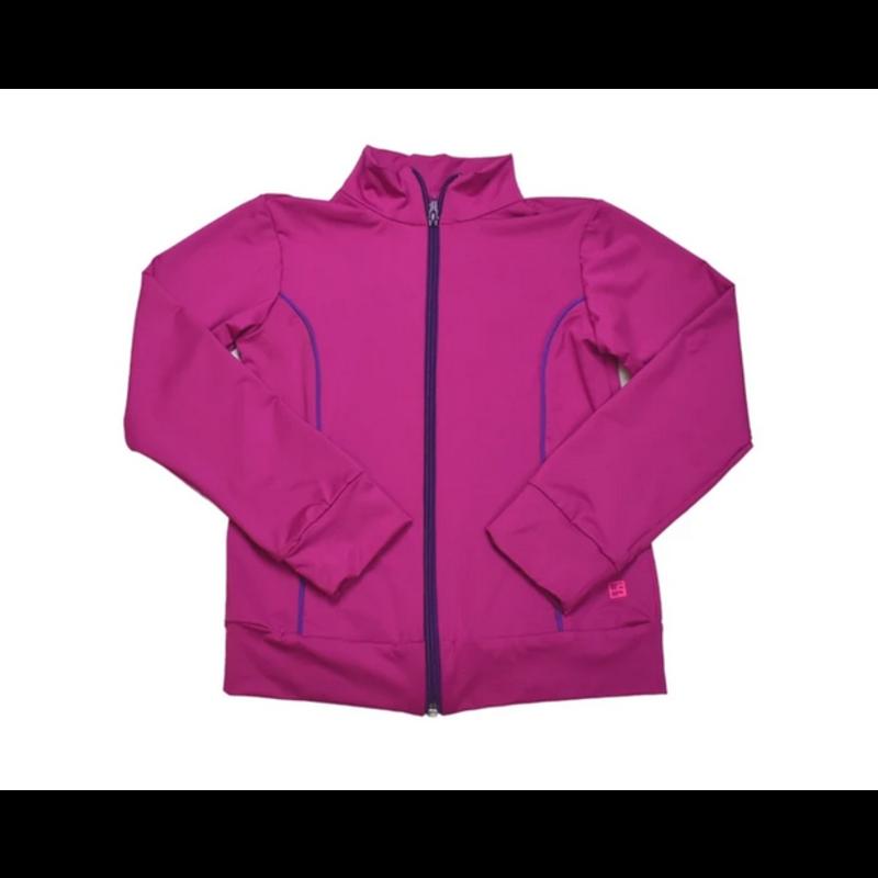 SET Athleisure SET Athleisure Juliet Dry Fit Jacket Fuschia w Purple