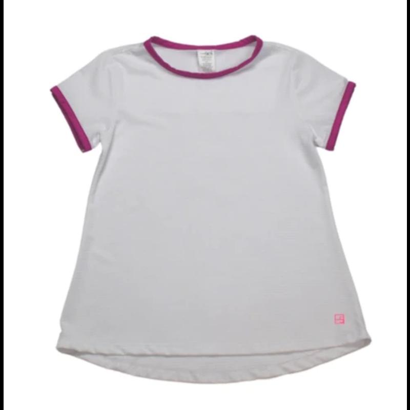 SET Athleisure SET Athleisure Bridget Basic T White w Hot Pink