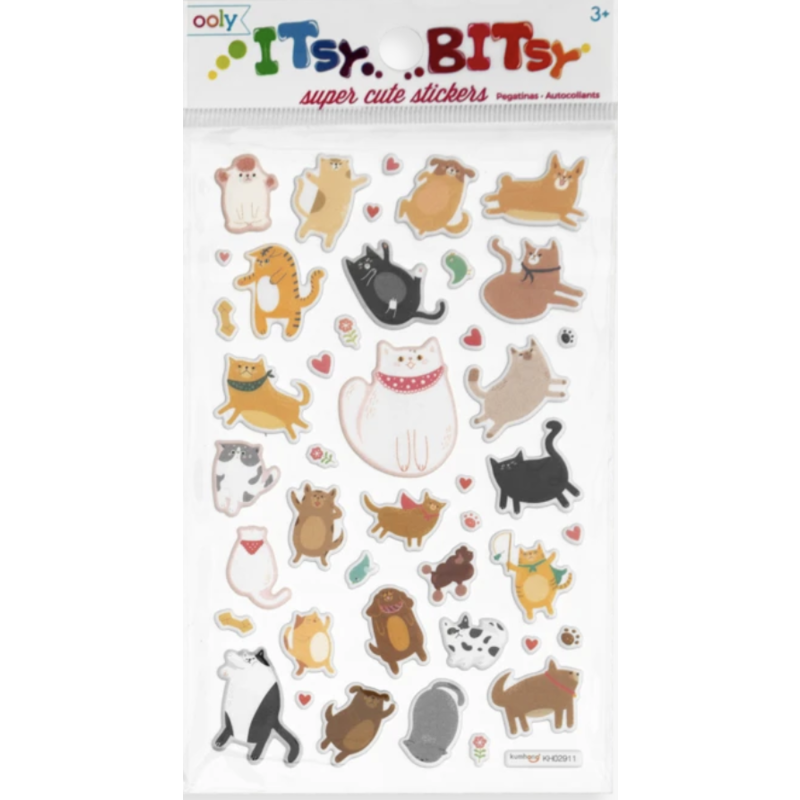 Ooly Ooly Itsy Bitsy Stickers: Puffy Pets