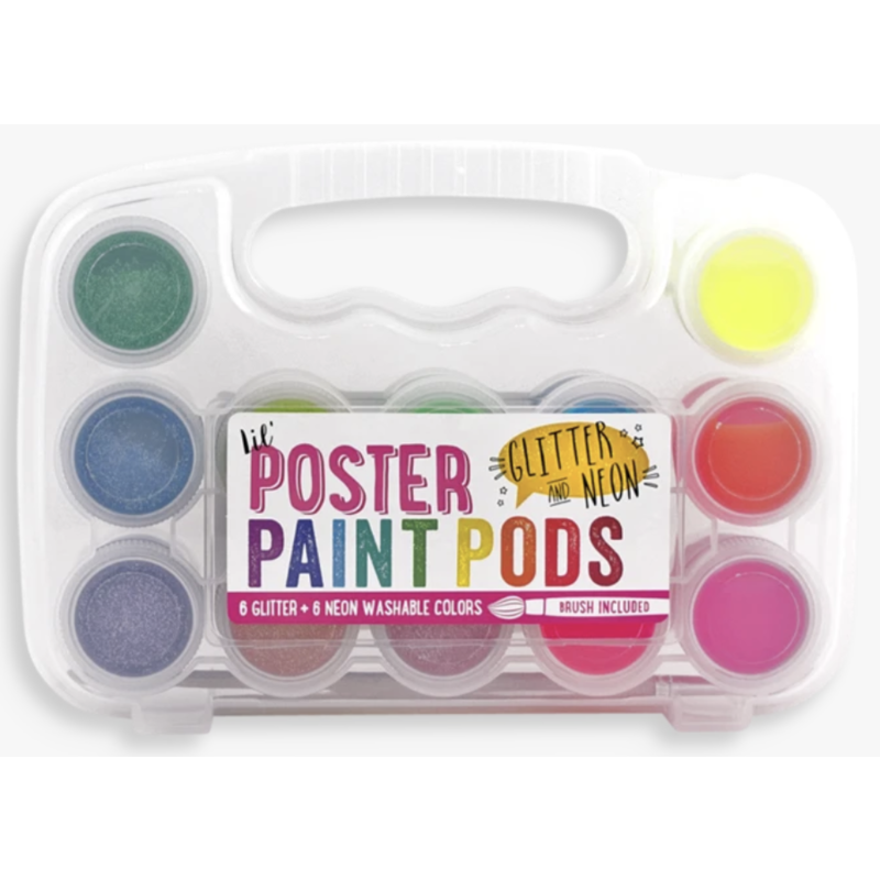 Ooly Ooly Lil' Paint Pods Poster Paints- Glitter/Neon