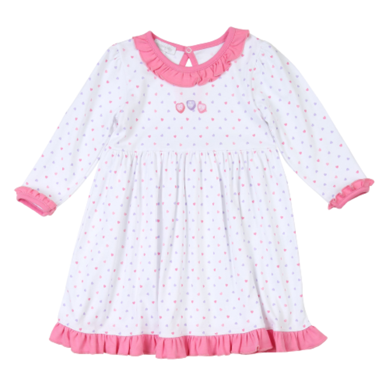 Magnolia Baby Magnolia Baby Lil' Sweetheart Emb LS Dress Set