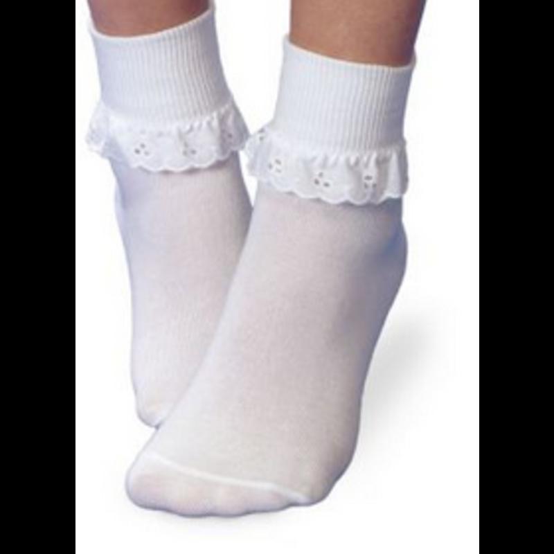 Eyelet Ruffle Sock