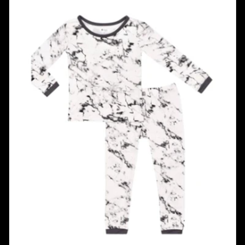 Kyte Baby Kyte Baby Printed Toddler Pajama Set- Charcoal Marble
