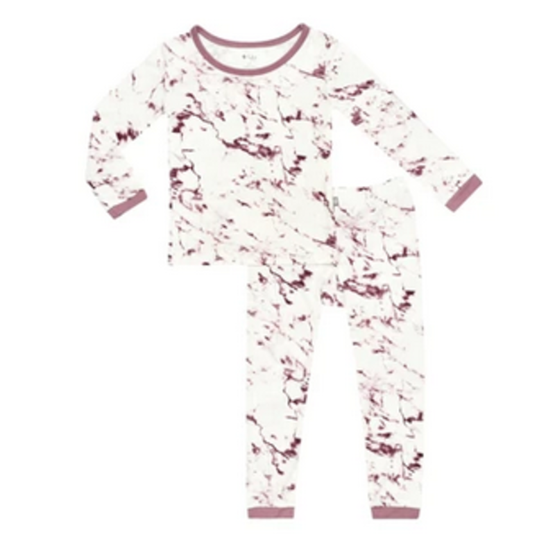 Kyte Baby Kyte Baby Printed Toddler Pajama Set- Mulberry Marble