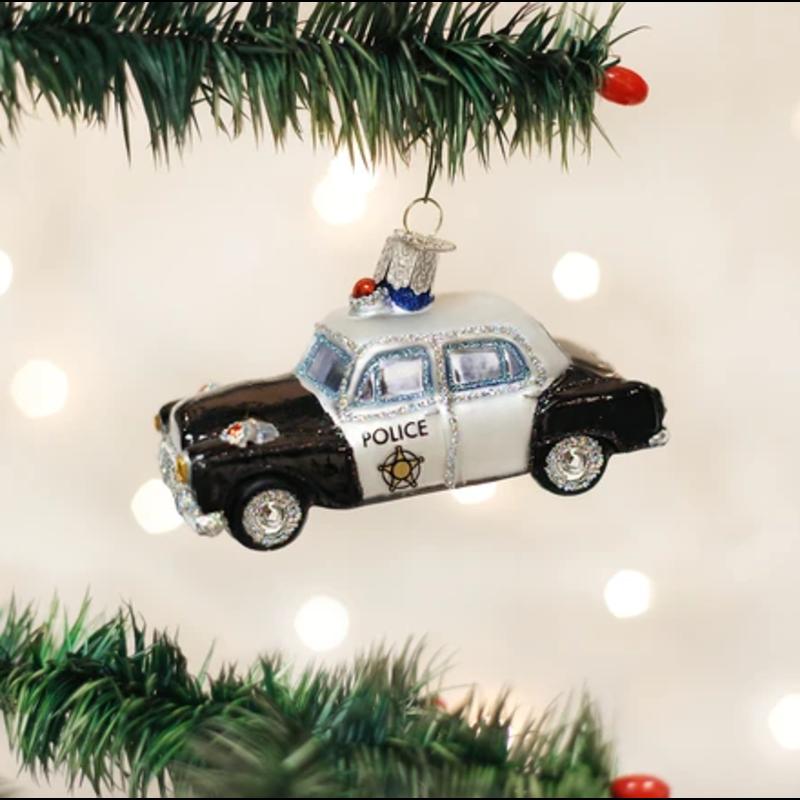 Old World Christmas Police Car Ornament