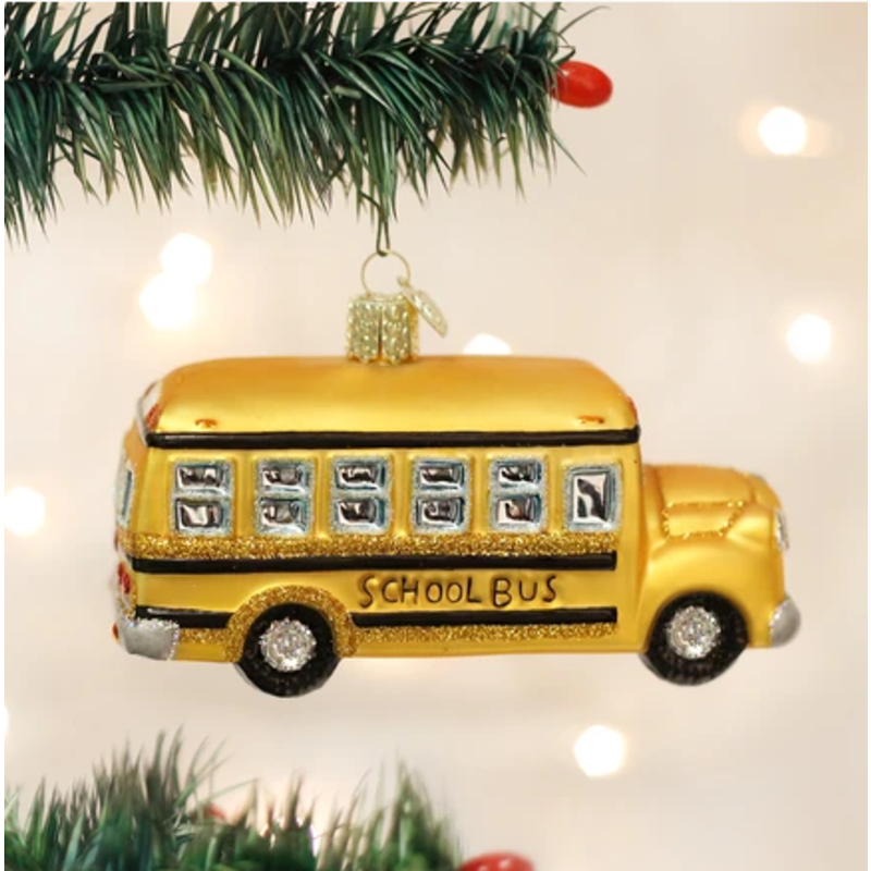 Old World Christmas Old World Christmas School Bus Ornament