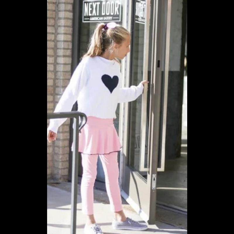 SET Athleisure SET Athleisure White/Navy Heart Stella Sweater