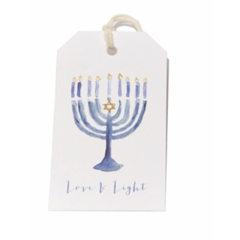 Over The Moon Over The Moon Menorah Gift Tag