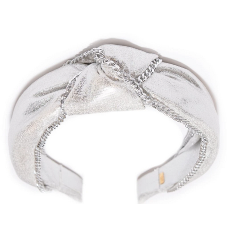 Bari Lynn Bari Lynn Silver Chain Knot Headband