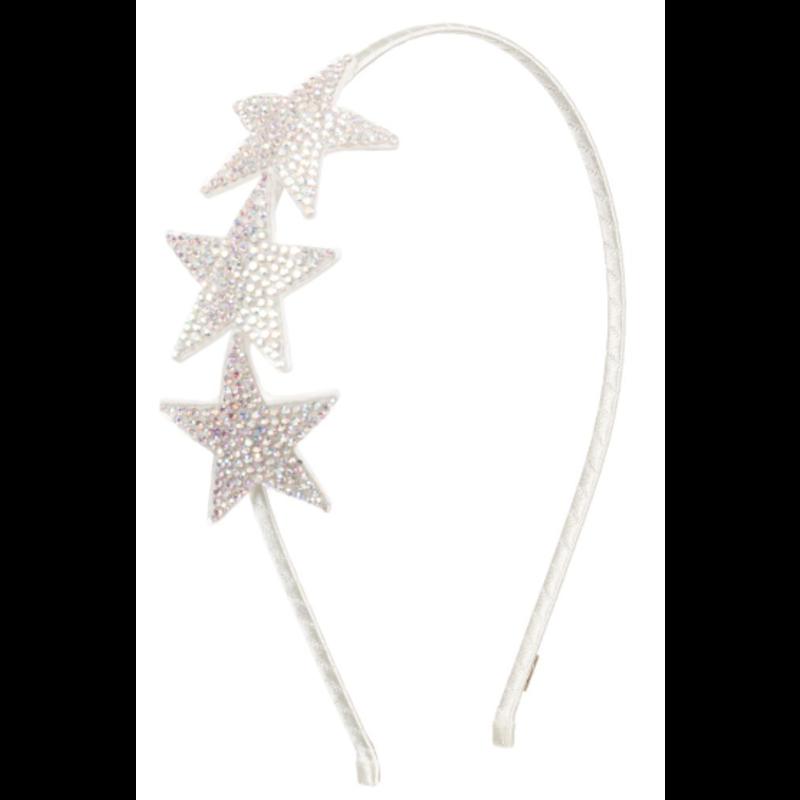 Bari Lynn Bari Lynn Crystallized Silver Stars On Thin Headband