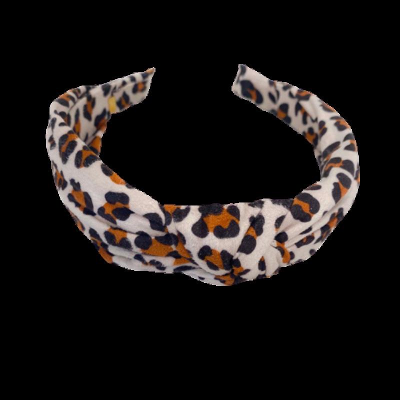 Bari Lynn Bari Lynn White Leopard Knot Headband