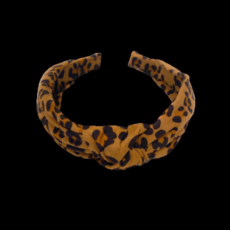 Bari Lynn Bari Lynn Brown Leopard Knot Headband