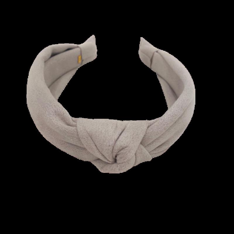 Bari Lynn Bari Lynn Gray Suede Knot Headband