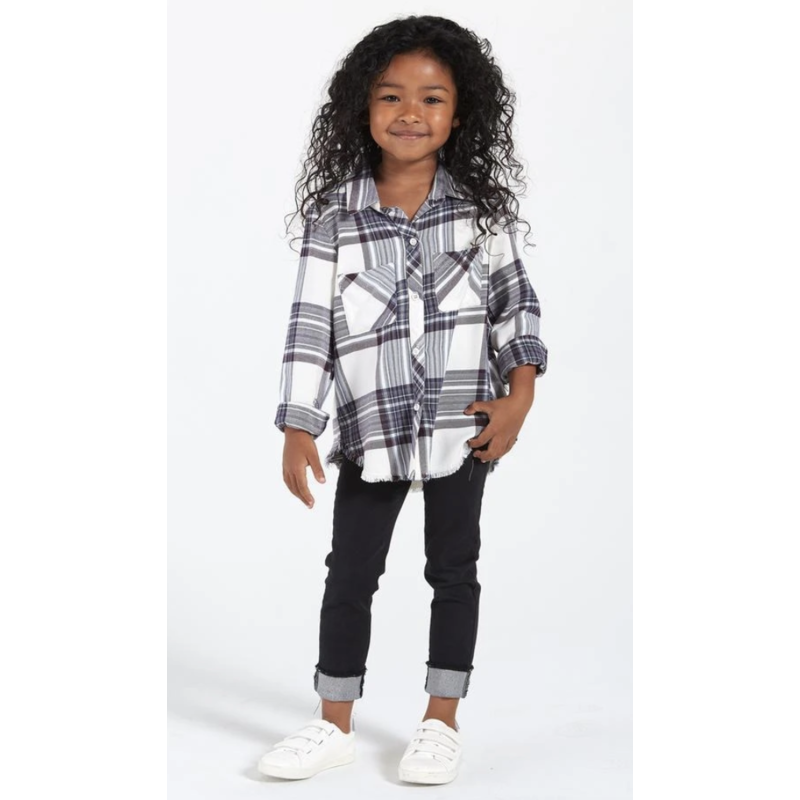 Bella Dahl Girl Bella Dahl Hipster Pocket Shirt - Glacier Point