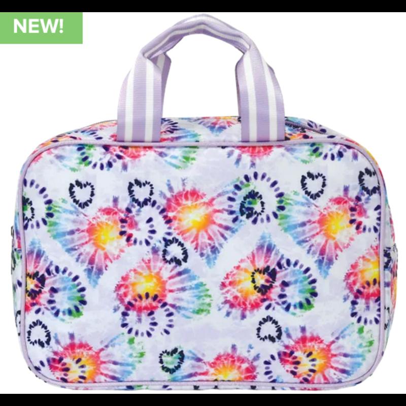 Iscream Heart Tie Dye Large Cosmetic Bag
