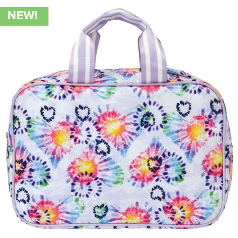 Iscream Iscream Heart Tie Dye Large Cosmetic Bag