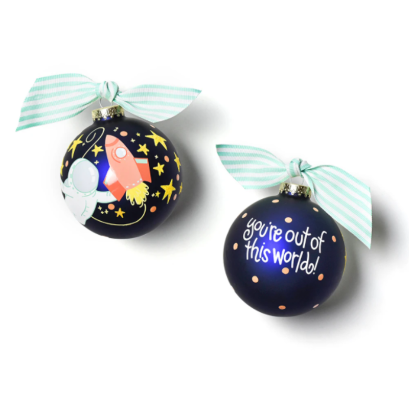 Out In Space Glass Ornament