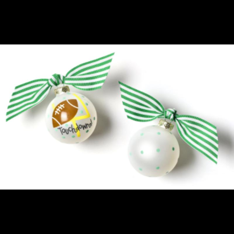 Coton Colors Football Ornament