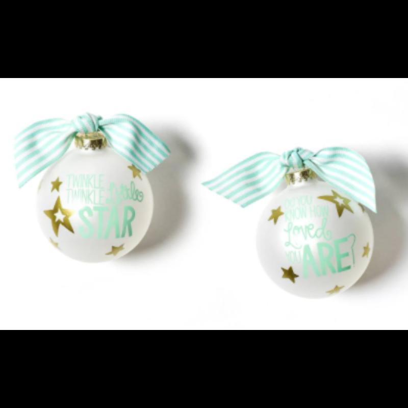 Twinkle Twinkle Little Star Glass Ornament