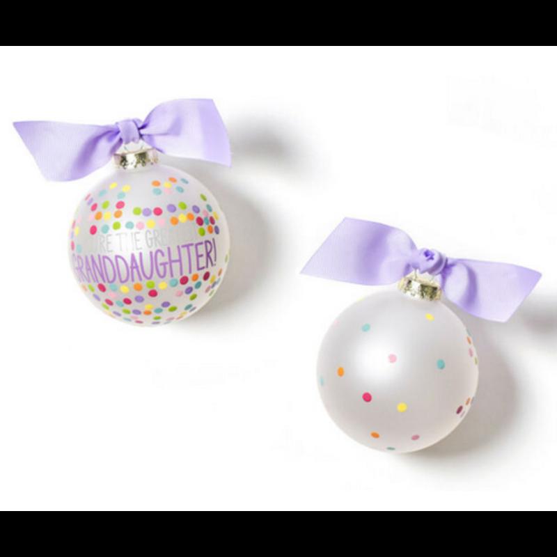 You're the Greatest Granddaughter Confetti Glass Ornament